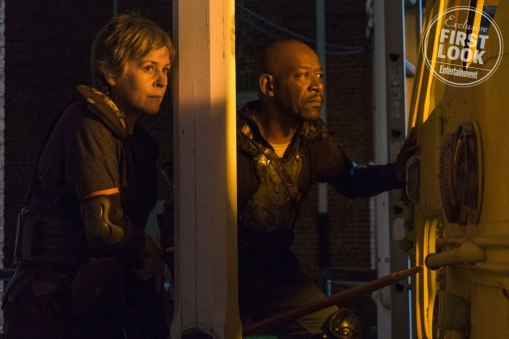 Walking Dead (2018) Melissa McBride as Carol Peletier, Lennie James as Morgan Jones - The Walking Dead _ Season 8, Episode 9 - Photo Credit: Gene Page/AMC